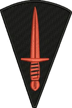 58 COMMANDO embroidered badge